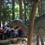 Peruvian dinosaurs education sculpture project