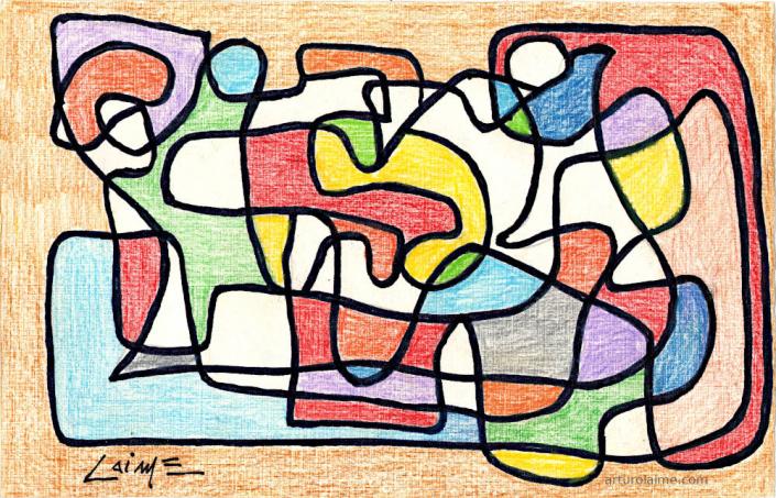 Entanglement arwork on paper