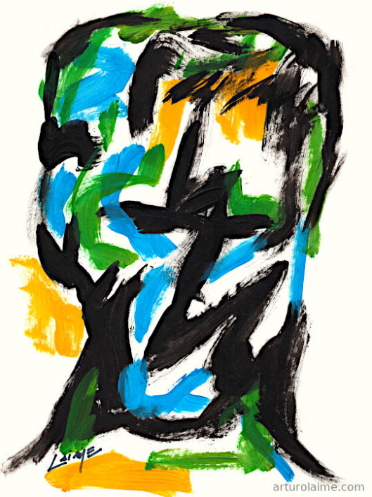 Head 23 artwork on paper