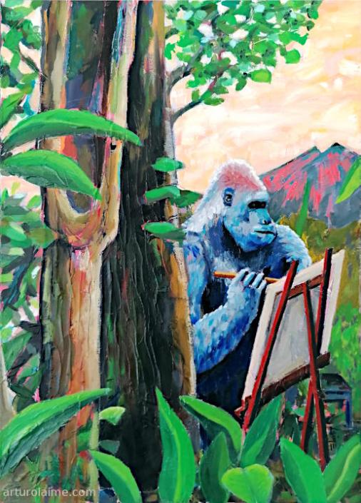 Painter gorilla