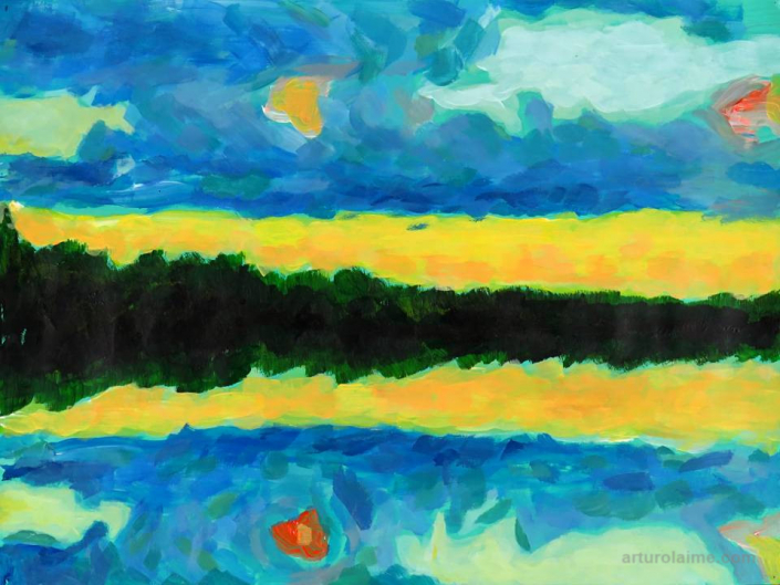 Water mirror painting