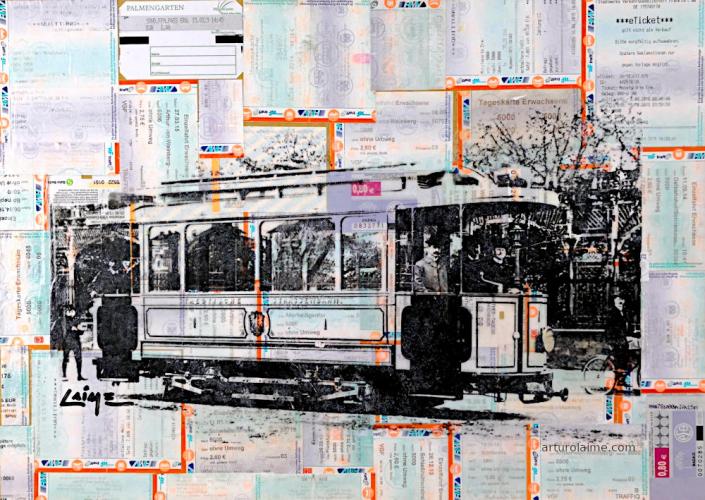 Frankfurter strassebahn mixed media 02