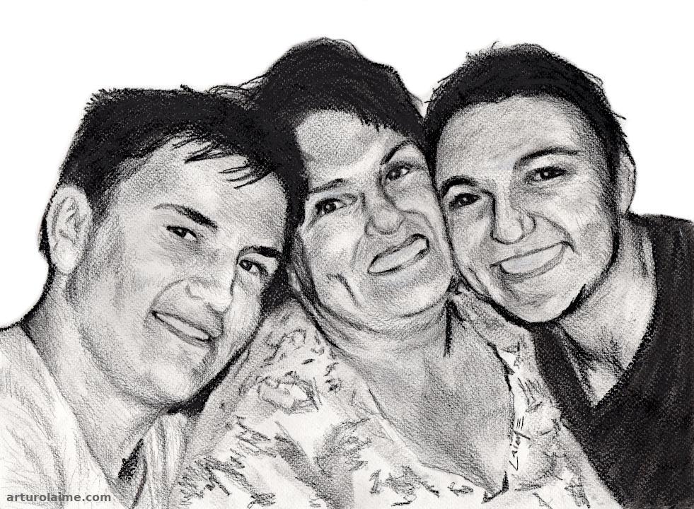 Portrait of Lea Müller & family